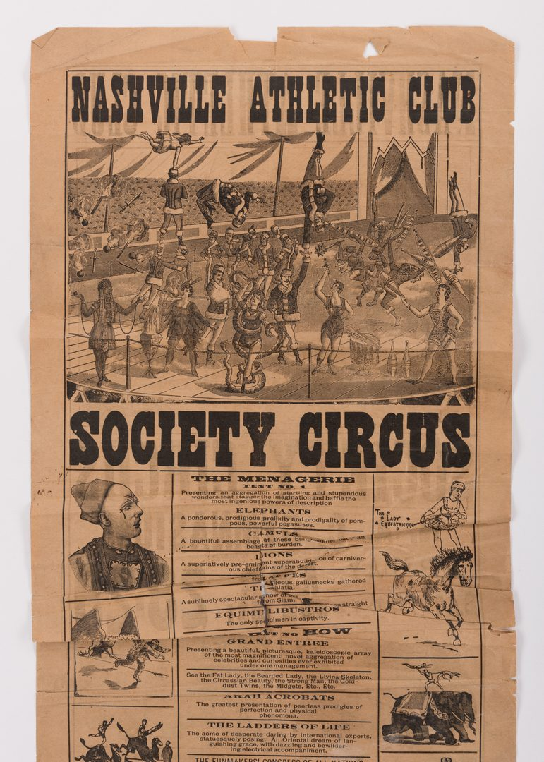 Lot 764: TN Circus Broadside & German Newspaper, 2 items