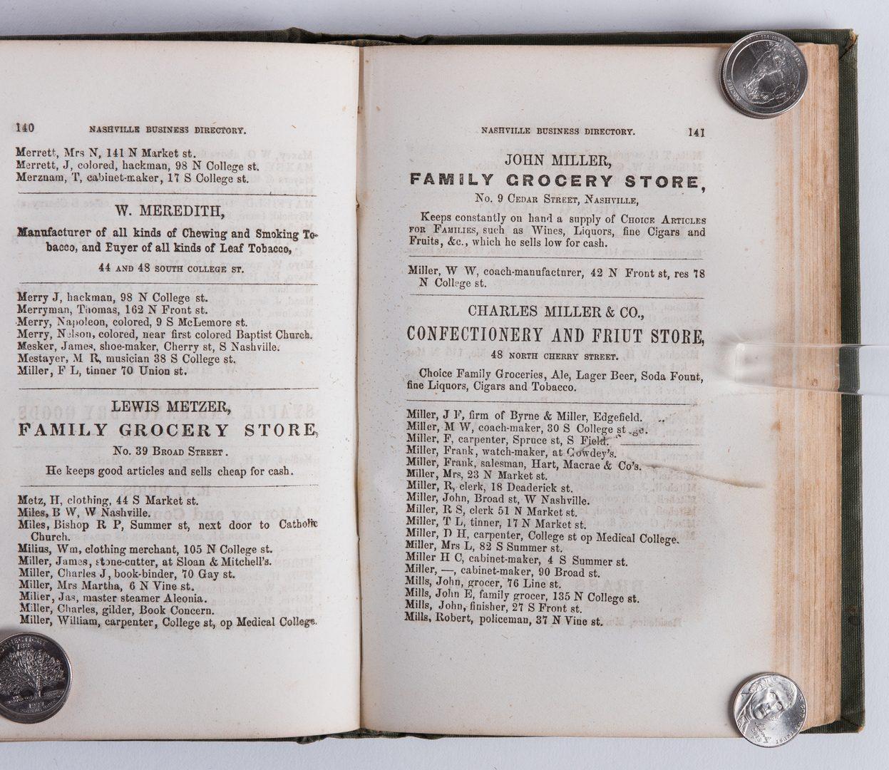 Lot 766: Nashville 1857 Business Directory
