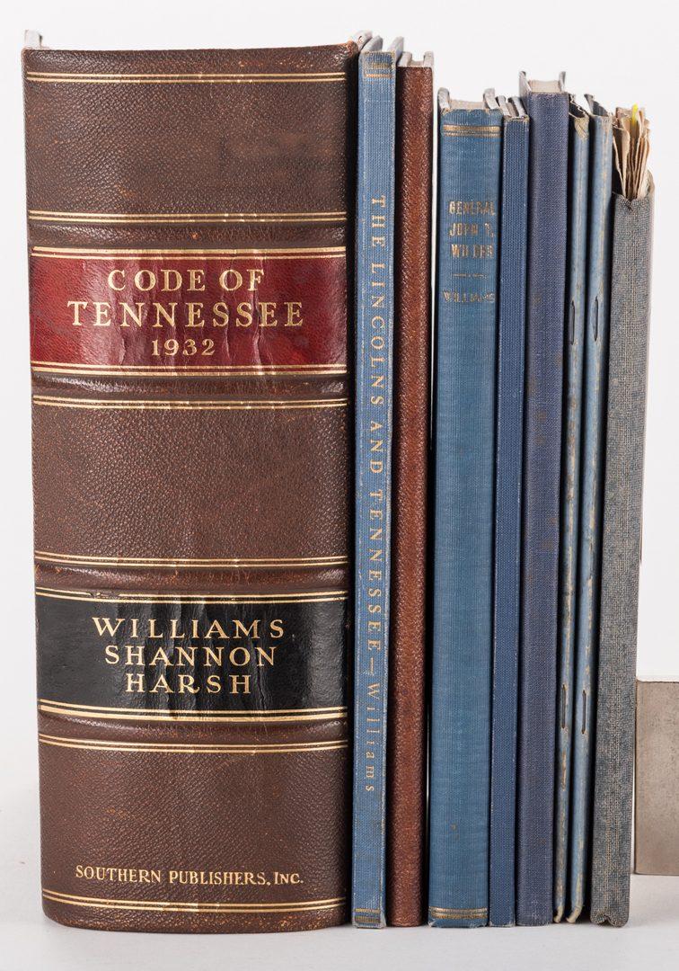 Lot 767: 9 Samuel C. Williams TN Books