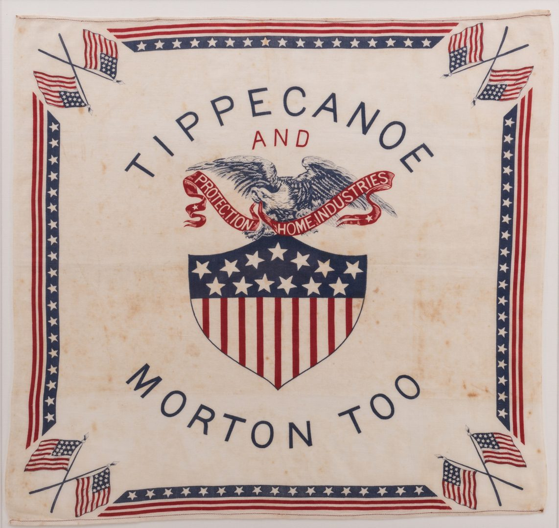 Lot 776: Campaign Bandana and War Bond Illustration Art, 2 items