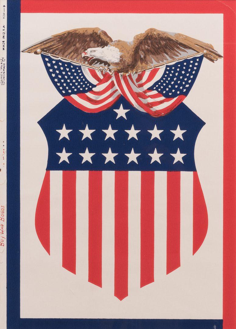 Lot 776: Campaign Bandana and War Bond Illustration Art, 2 items
