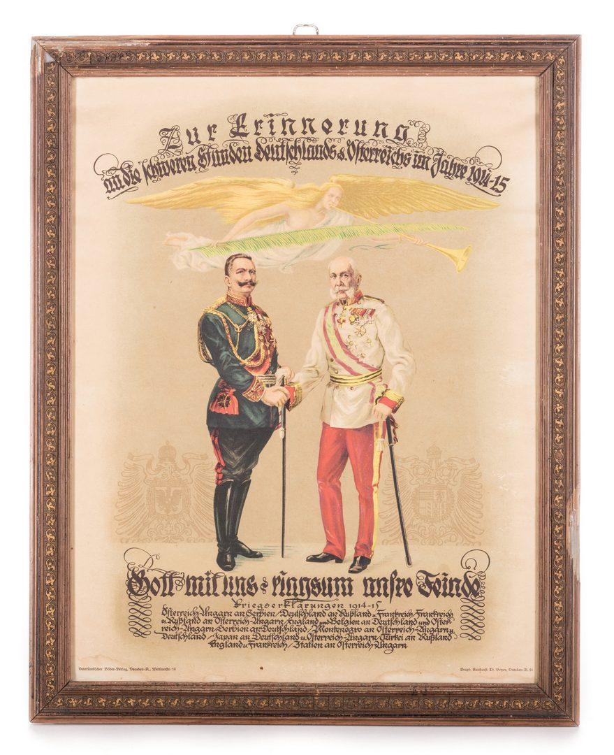 Lot 778: 2 World War I Era Lithographs