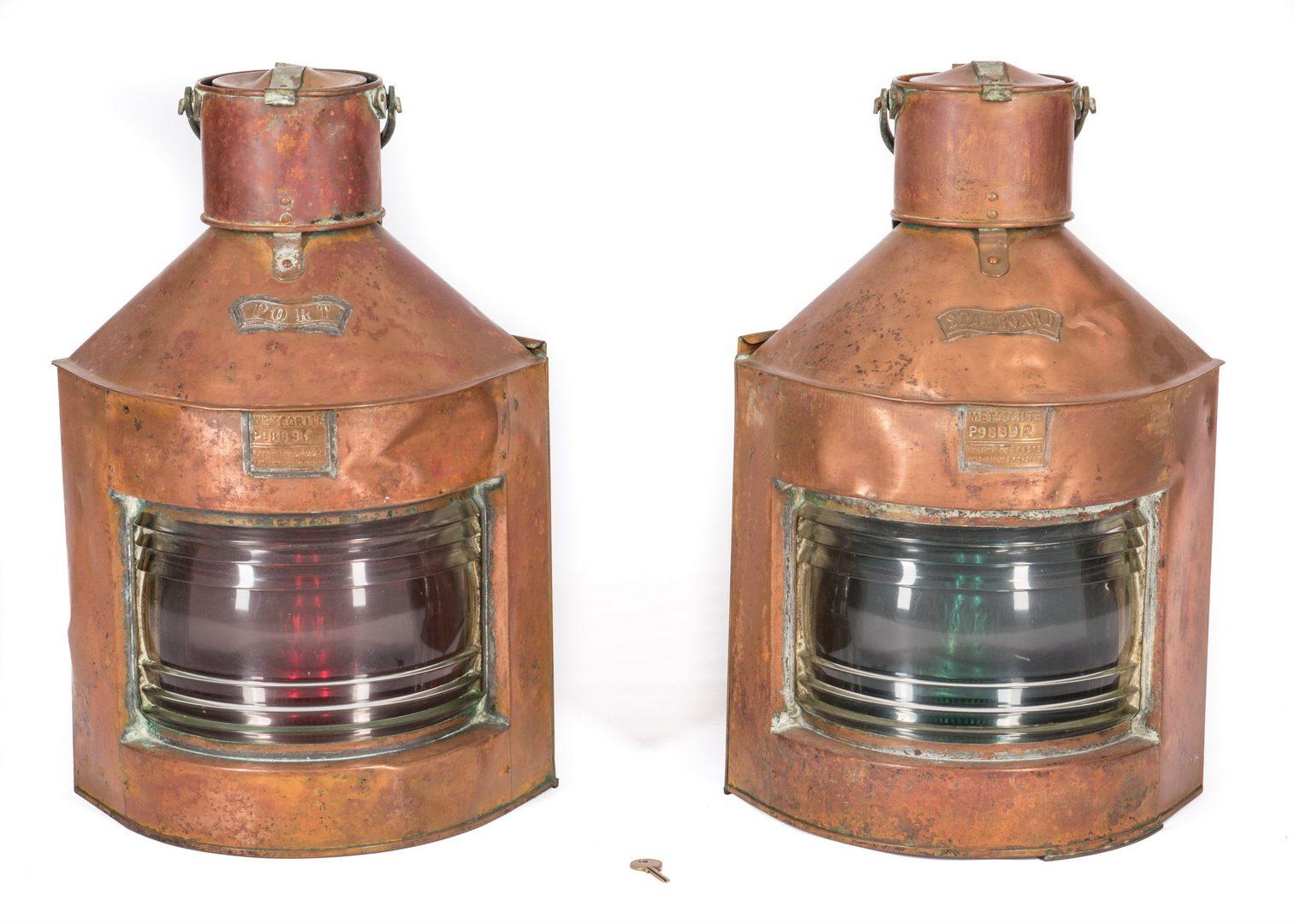 Lot 782: Meteorite Port & Starboard Lanterns, 2 items