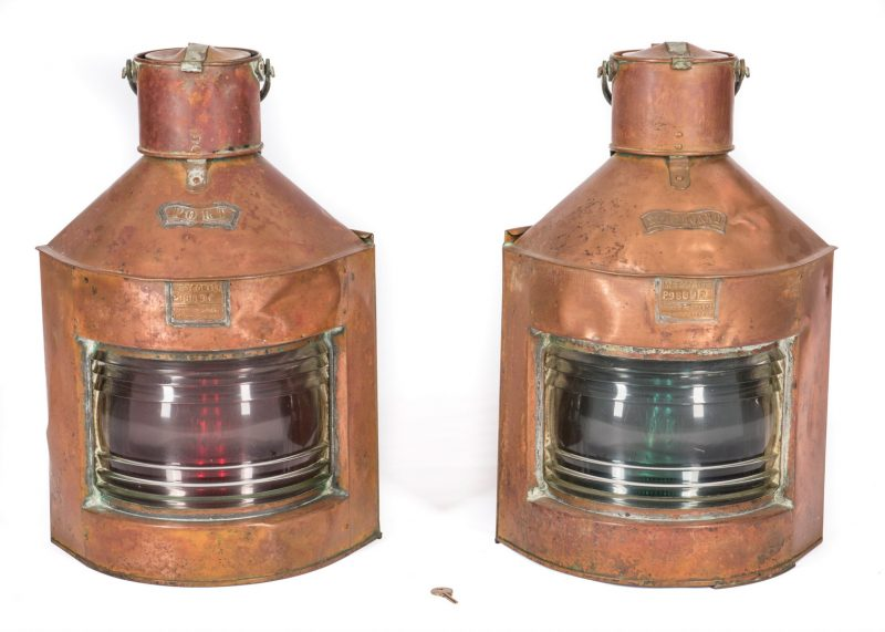 Lot 782: Meteorite Port & Starboard Lanterns, 2 items