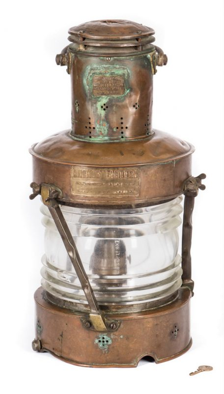 Lot 783: Telford, Grier & Mackay Ltd. Anchor Lantern