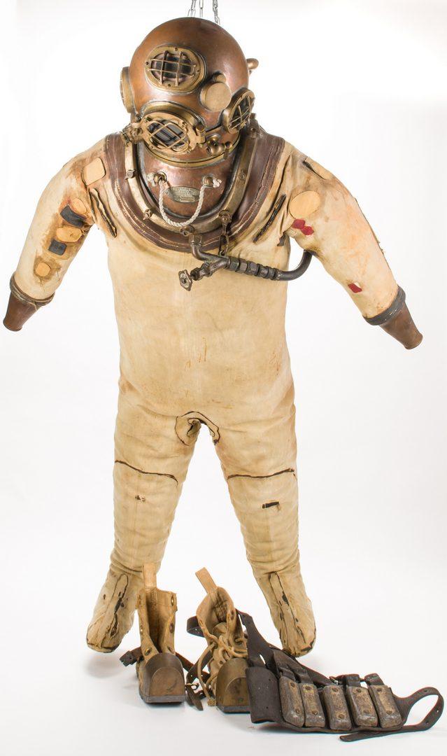 Lot 785: 1939 U.S. Navy Morse Dive Helmet & Full Dive Suit