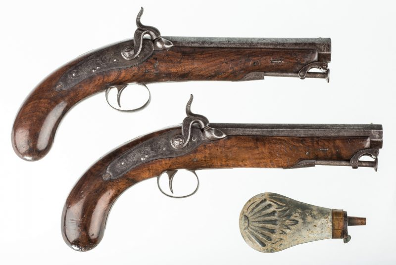 Lot 789: Pr 19th c. English/Scottish Belt Pistols