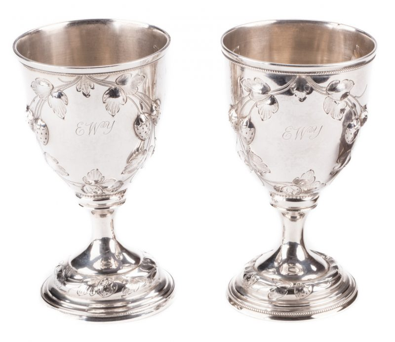 Lot 78: McGavock Family Silver Goblets