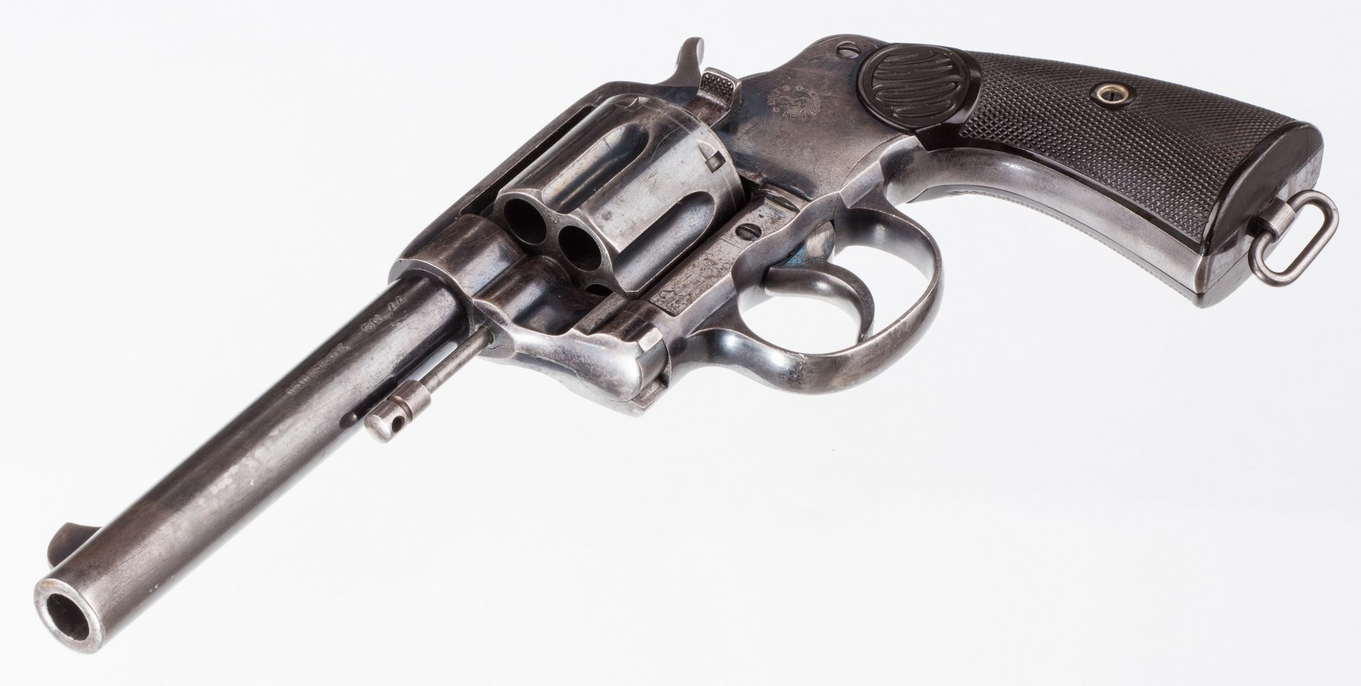 Lot 791: Colt New Service Revolver, .44 Caliber, Railway Mail Holster