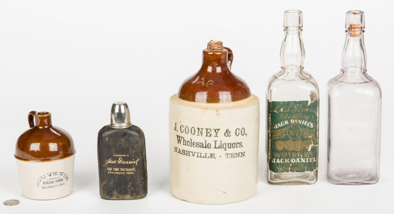 Lot 795: 5 Whiskey Related Items, inc. Jack Daniels