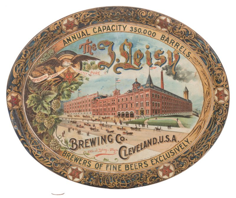 Lot 799: Leisy Brewing Company Advertising Tray