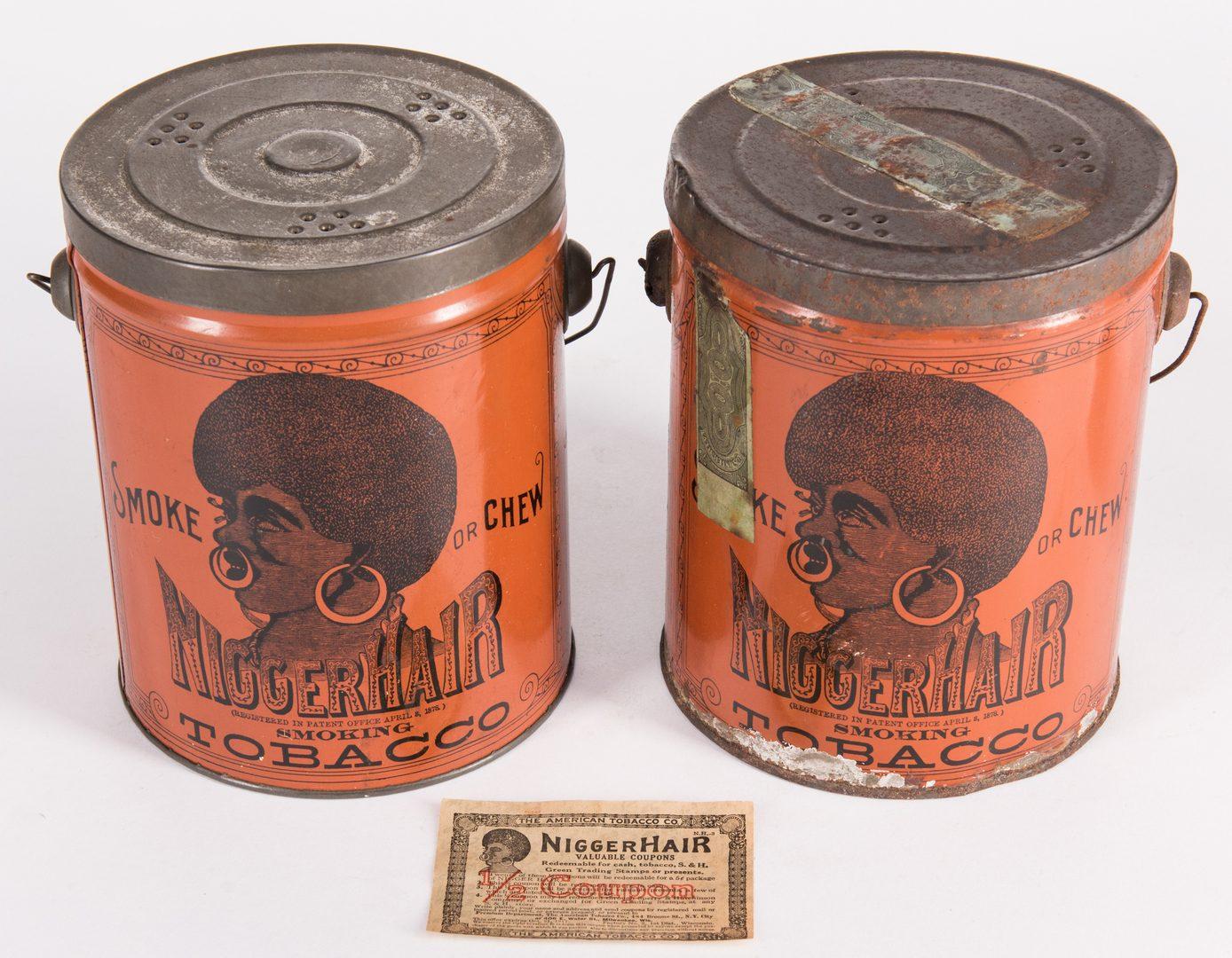 Lot 800: Black Americana  Smoking Tobacco Tins & Coupon