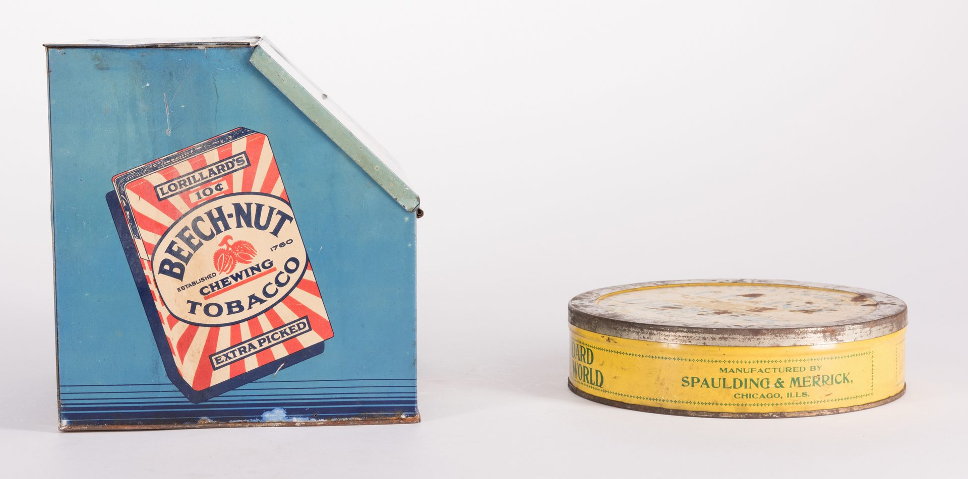 Lot 802: 6 Advertising Tobacco Tins, inc. Sweet Mist, Sweet Burley