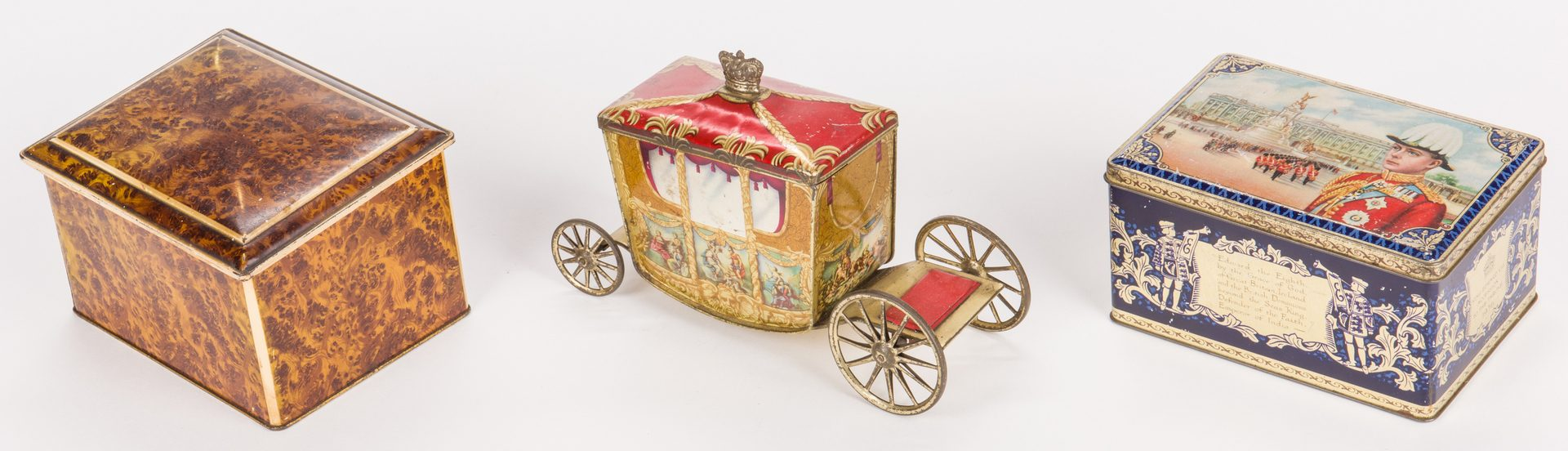 Lot 805: Collection of 6 English Biscuit Tins