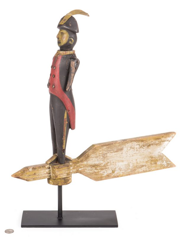 Lot 810: Folk Art Soldier Whirligig