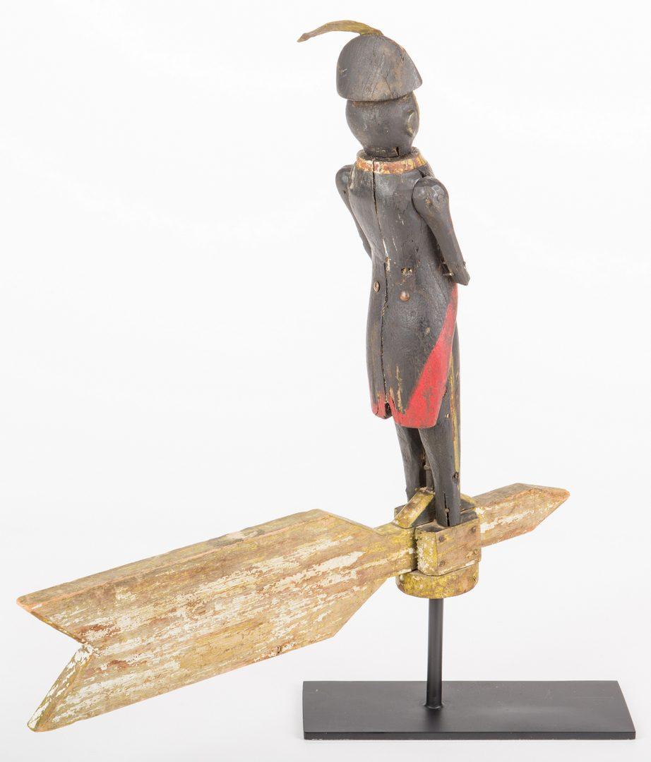 Lot 810: Folk Art Soldier Whirligig