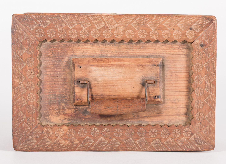Lot 812: Tramp Art & Folk Art Grouping, 6 items
