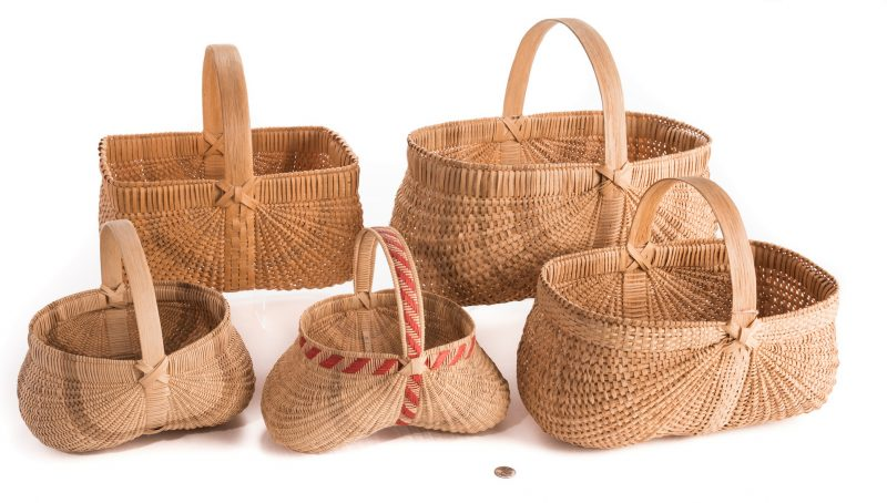 Lot 814: 5 Contemporary TN & NC Split Oak Baskets