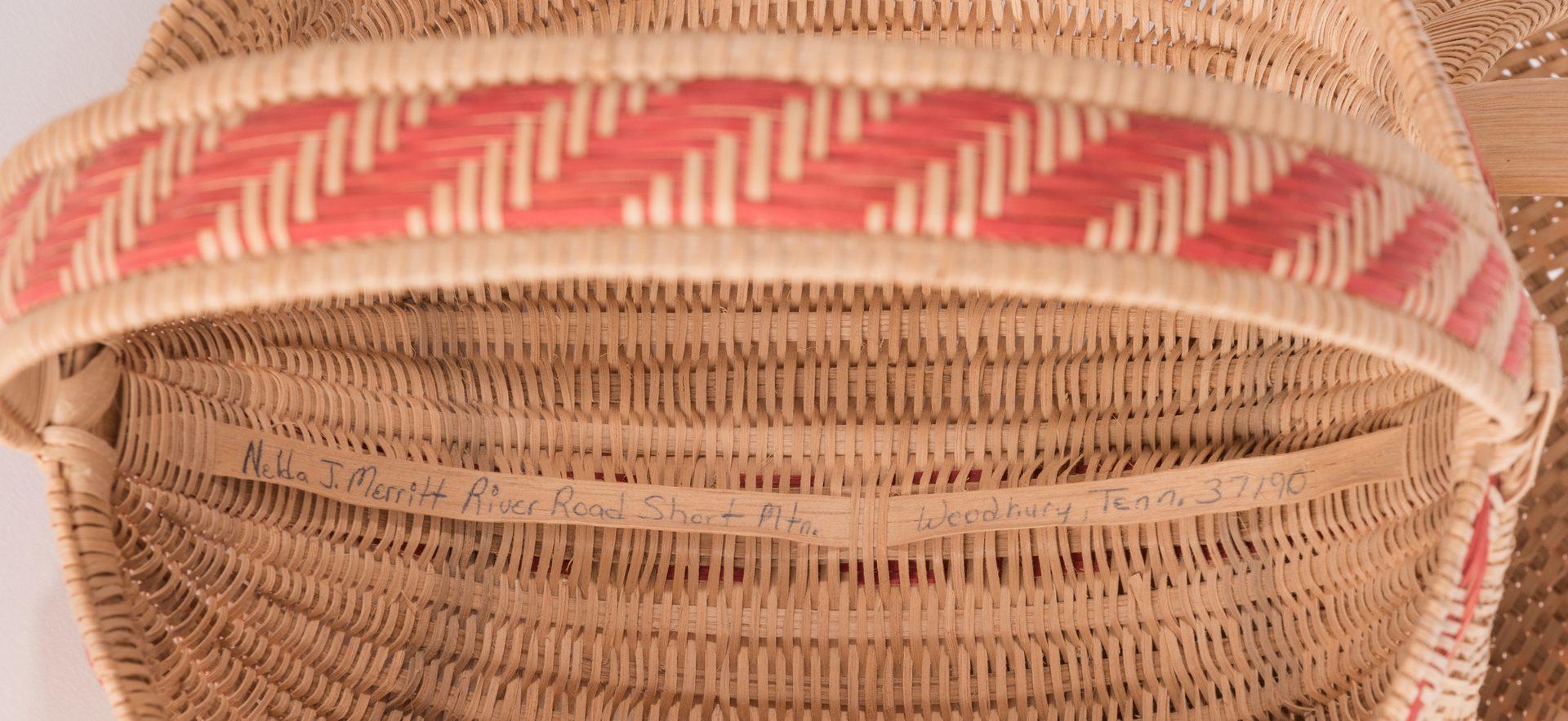 Lot 814: 5 Contemporary TN & NC Split Oak Baskets