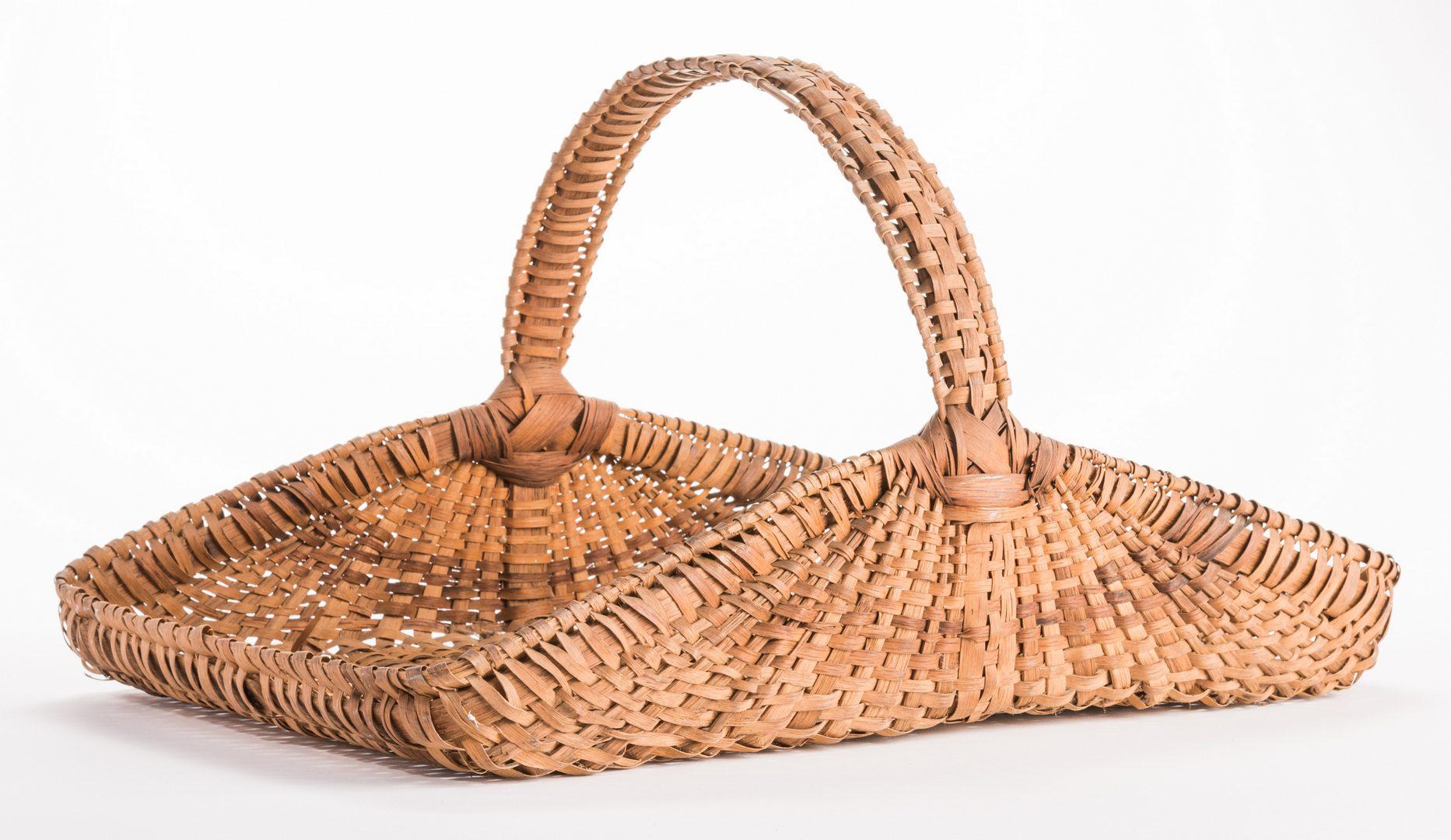 Lot 815: 6 Southern Split Oak Baskets