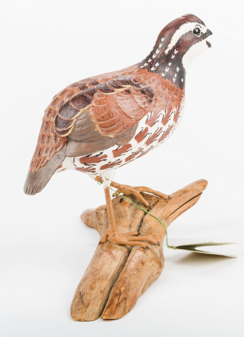 Lot 817: Robert and Virginia Warfield Carved Quail