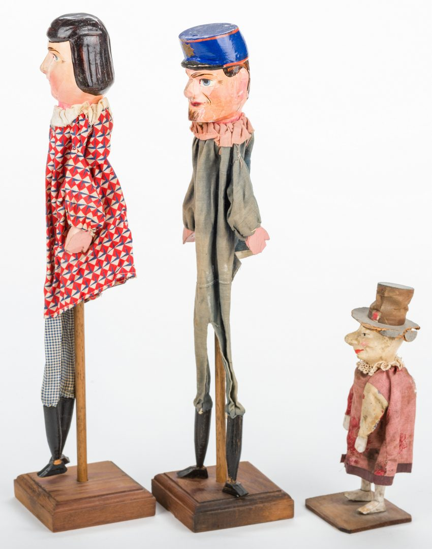 Lot 819: 5 Vintage Paper Mache & Wood Toys, inc. Punch & Judy
