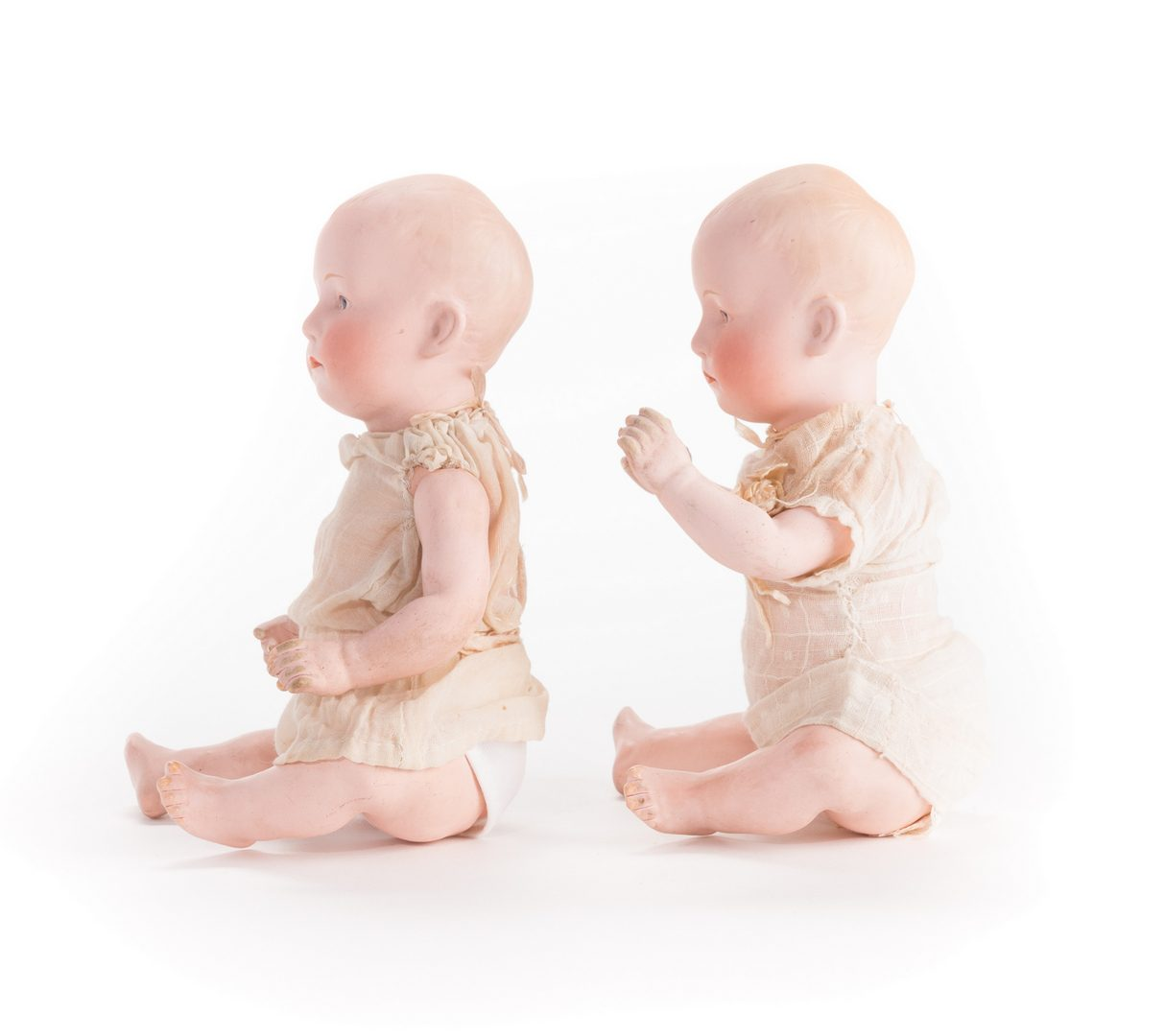 Lot 826: 4 German Bisque Dolls, G. Heubach, S&H