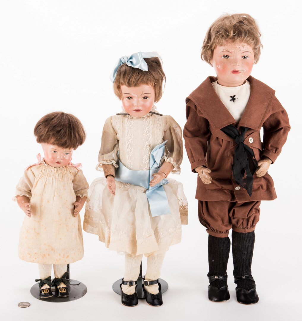 Lot 828: Group 3 Schoenhut Dolls