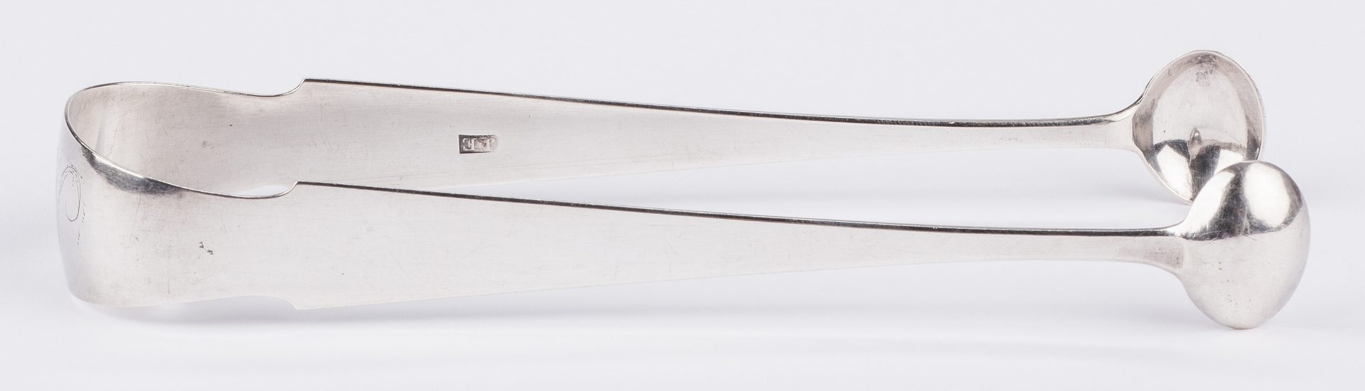 Lot 82: Elliston Coin Silver Tongs