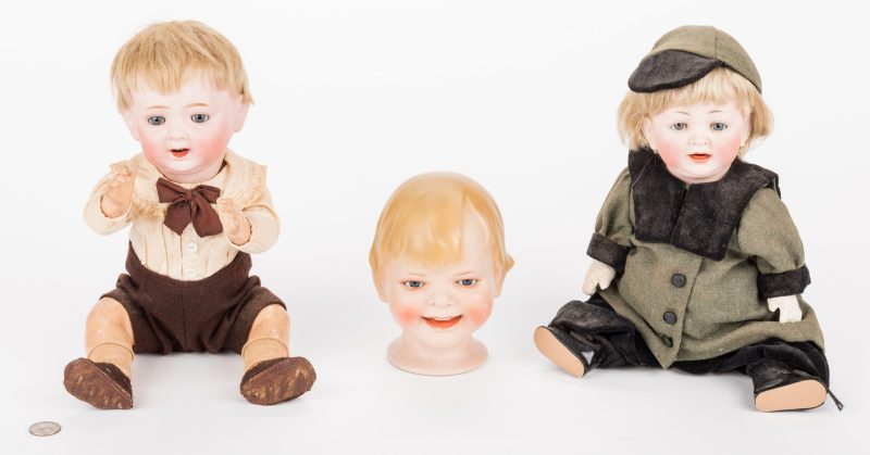 Lot 830: 3 Male Bisque Dolls