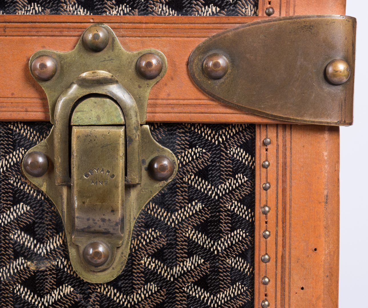 Lot 834: Malles Goyard Steamer Trunk