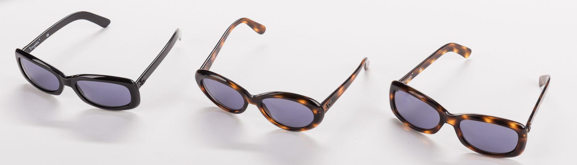 Lot 837: 5 Pairs of Designer Sunglasses, inc. Prada, Chanel