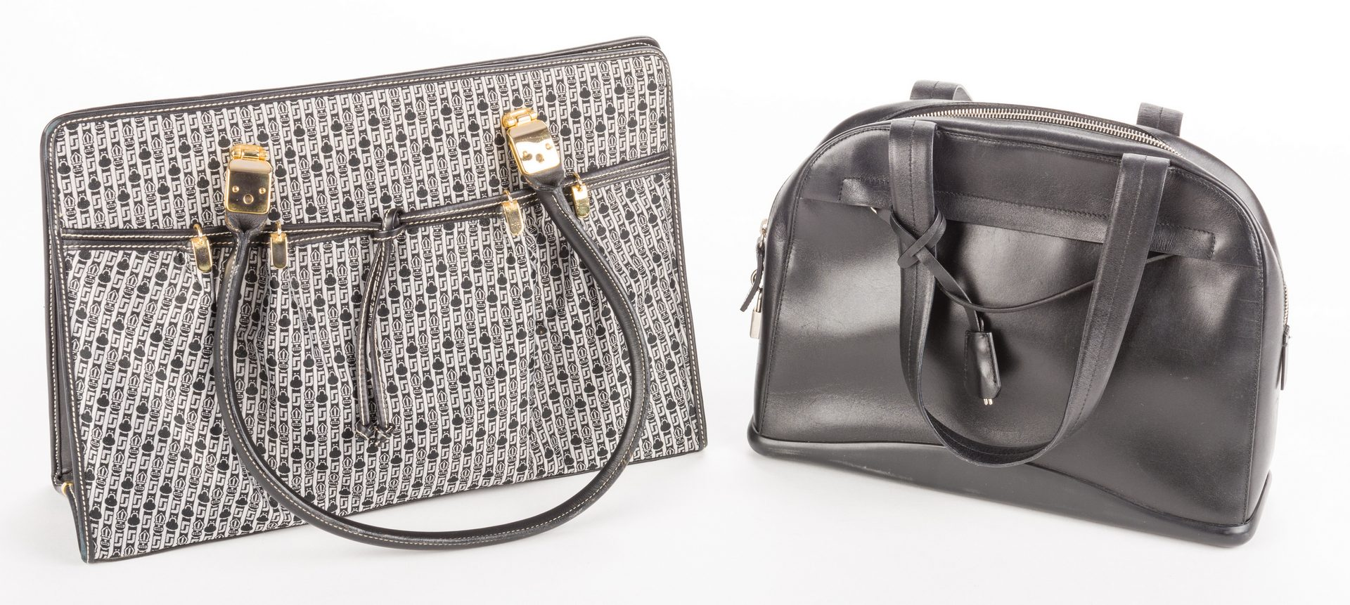 Lot 839: 2 Designer Handbags, inc. Judith Leiber and Prada.