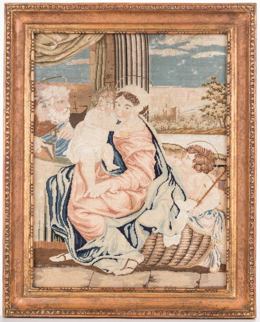 Lot 842: 2 Victorian Needlework Scenes