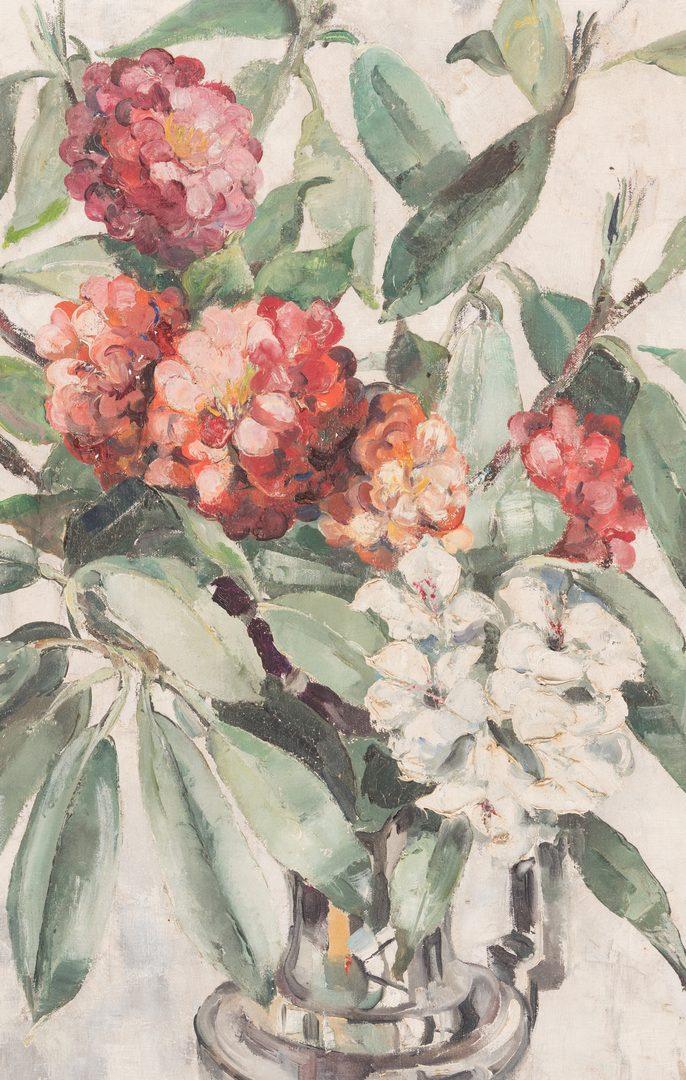 """Lot 848: Ann Cochran, O/C, """"Red-White & Silver"""""""