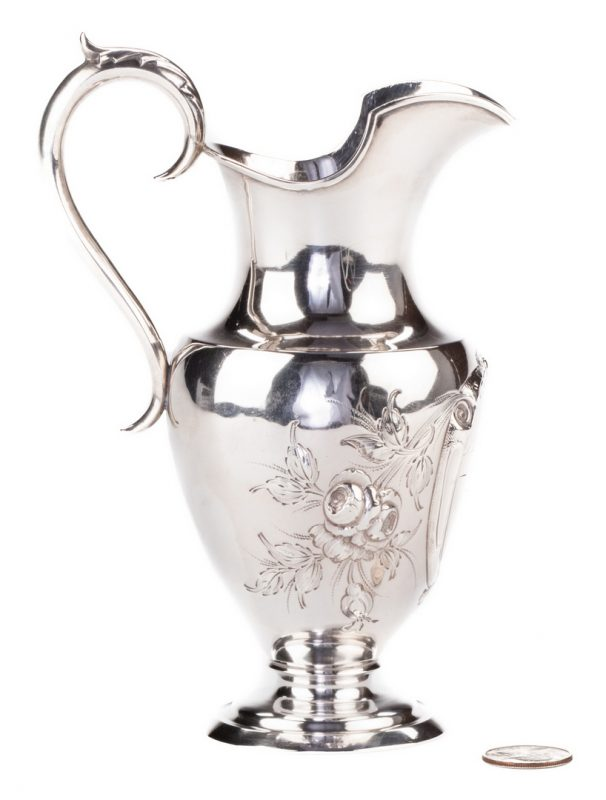 Lot 84: Coin Silver Cream Jug, TN Inscription
