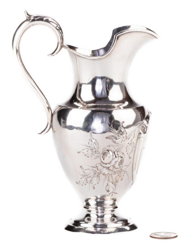 Lot 84: Coin Silver Cream Jug, TN Inscription