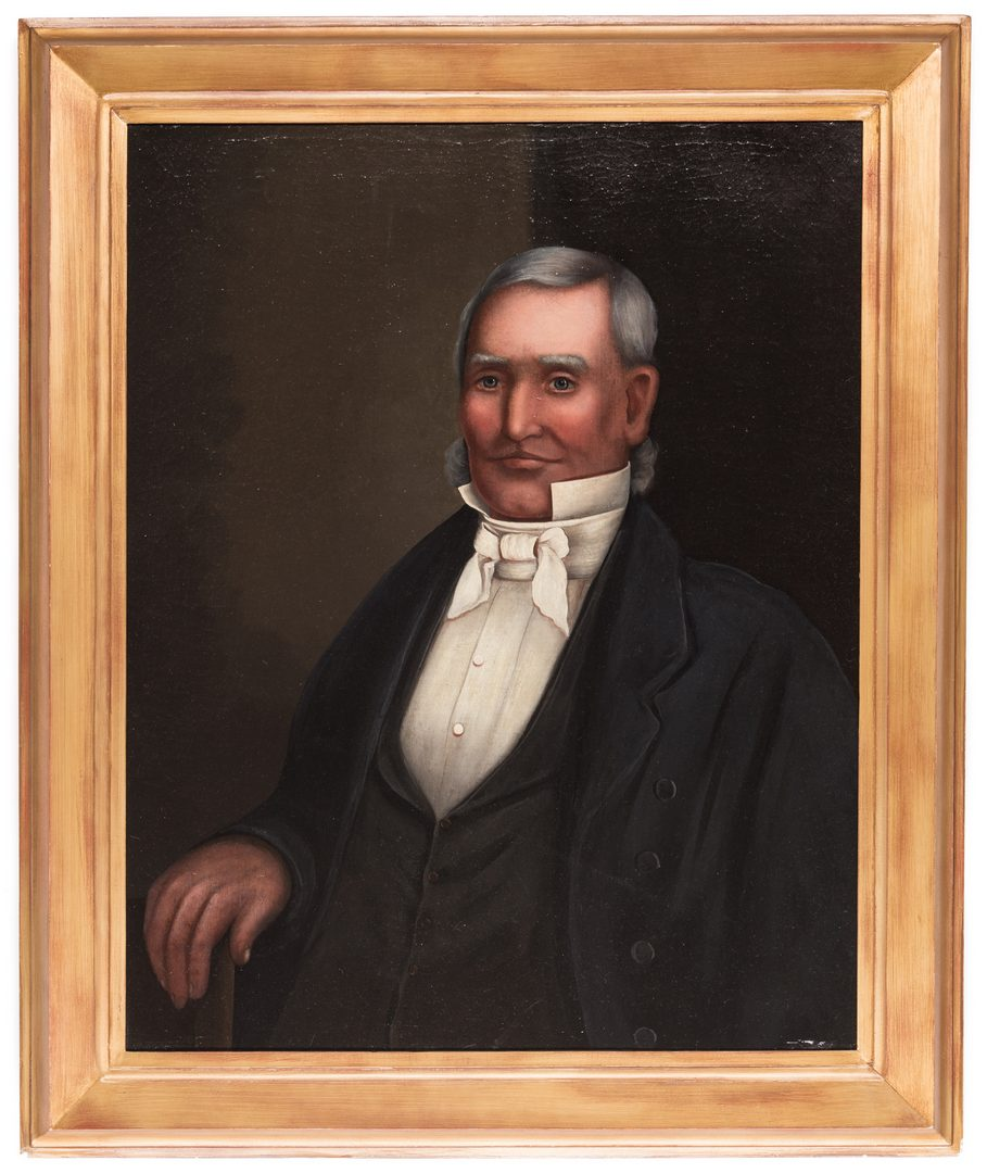 Lot 852: American School, Portrait of a Gentleman