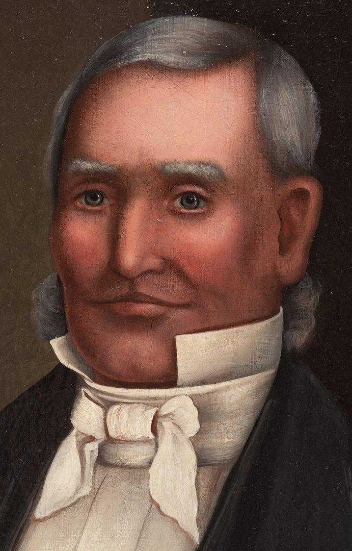 Lot 852: American School, Portrait of a Gentleman