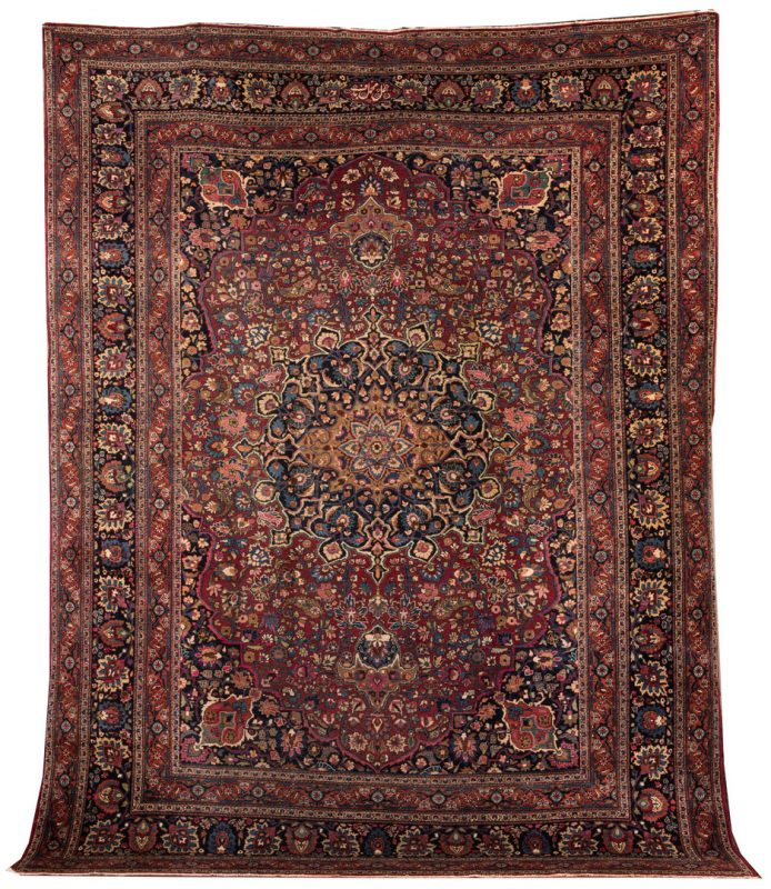 Lot 854: Semi-antique Persian Tabriz Carpet