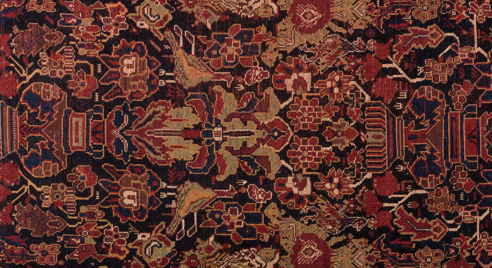 Lot 855: Antique Persian Afshar Area Rug