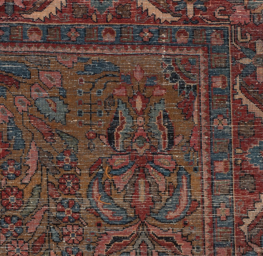 Lot 856: Antique Persian Sarouk Area Rug