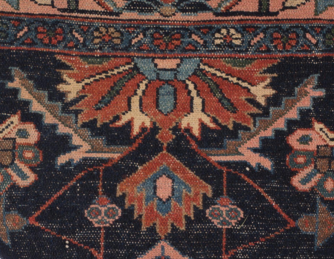 Lot 857: Antique Senna Baft Hamadan Area Rug