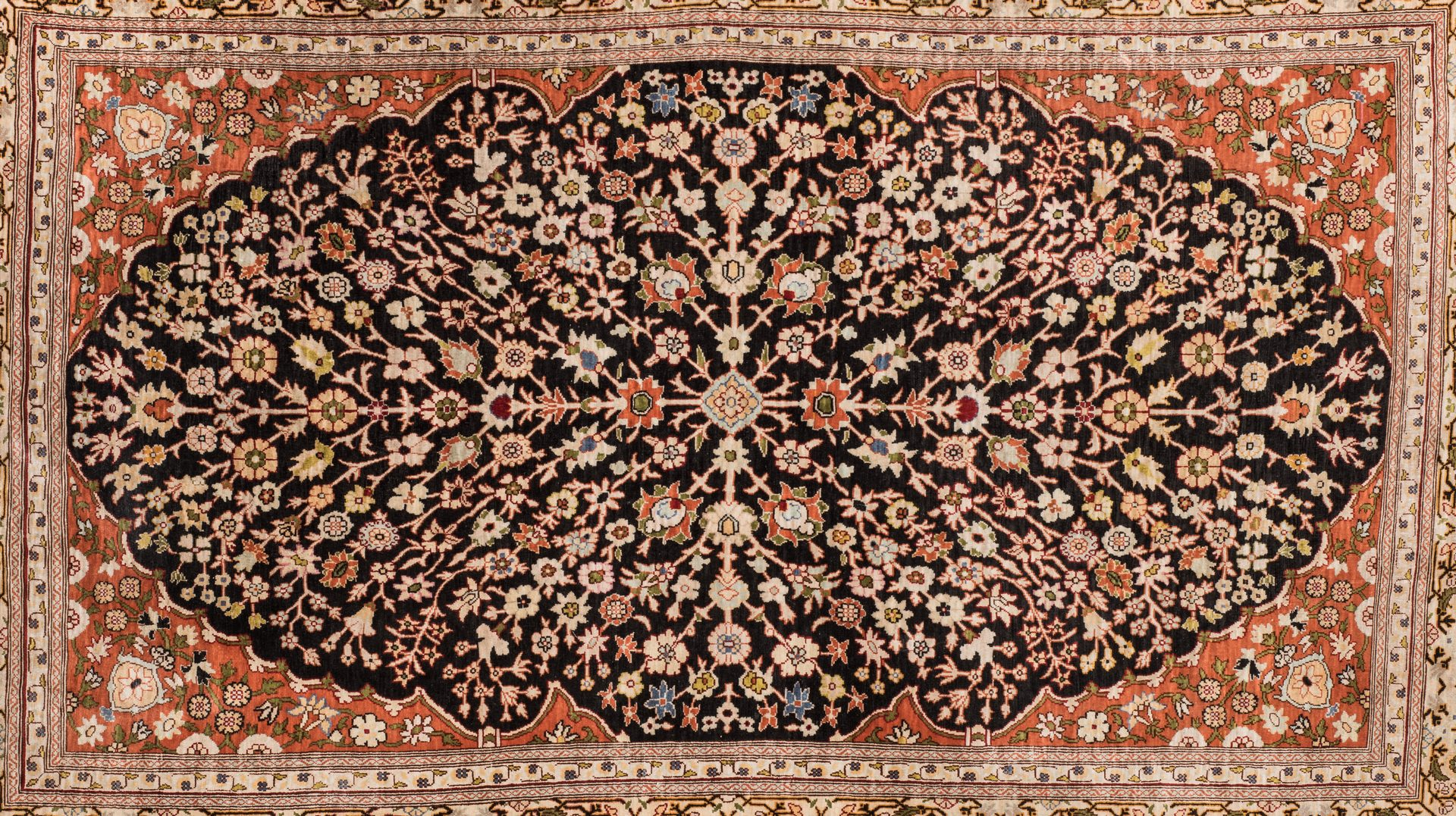 Lot 859: Finely Woven Persian Silk Rug