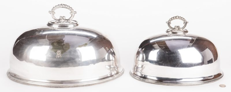 Lot 869: 2 Old Sheffield Meat Domes