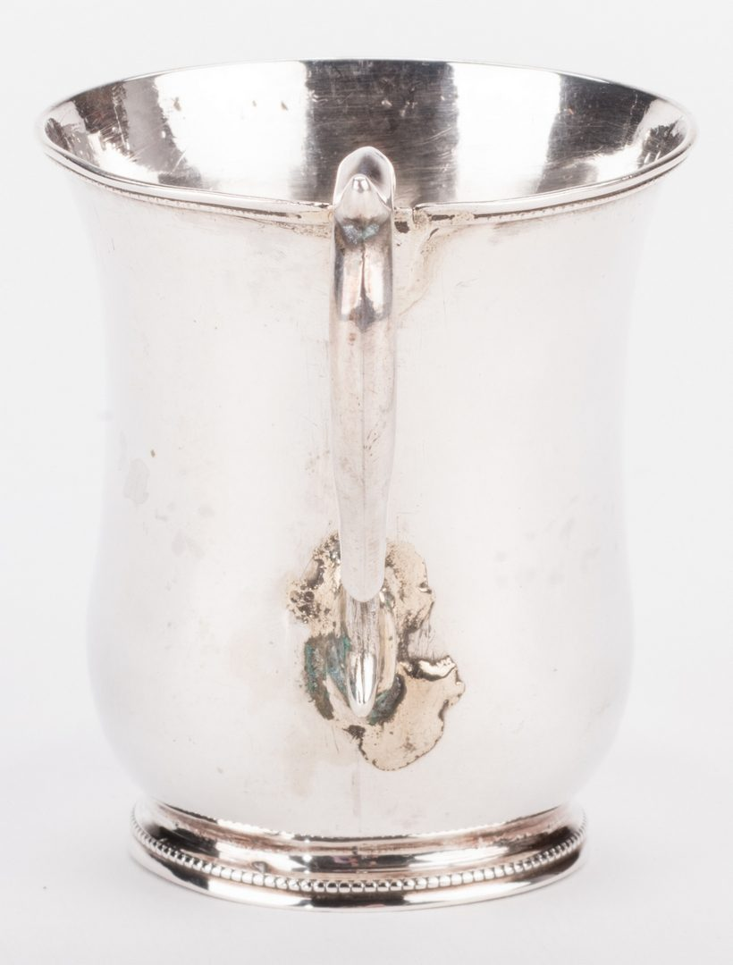 Lot 86: TN coin silver cup, Campbell & Donigan