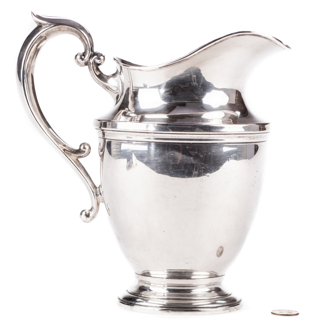 Lot 873 Hunt Silver Co Sterling Water Pitcher