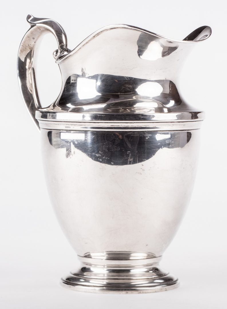 Lot 873: Hunt Silver Co. Sterling Water Pitcher