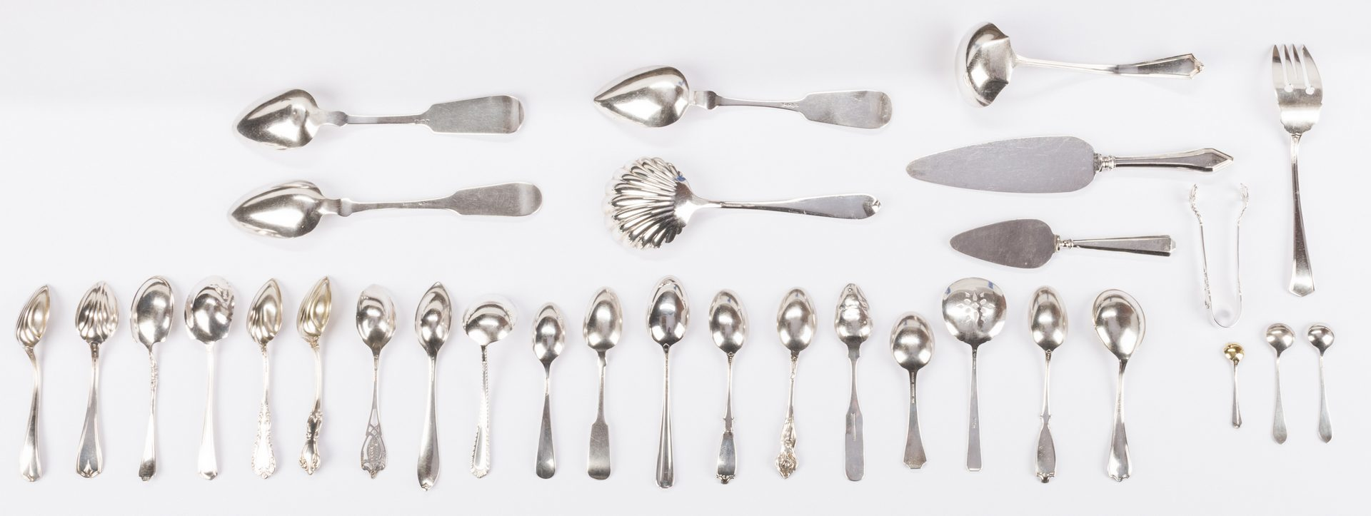 Lot 875: Group Sterling & Coin Silver Flatware, 38 pcs