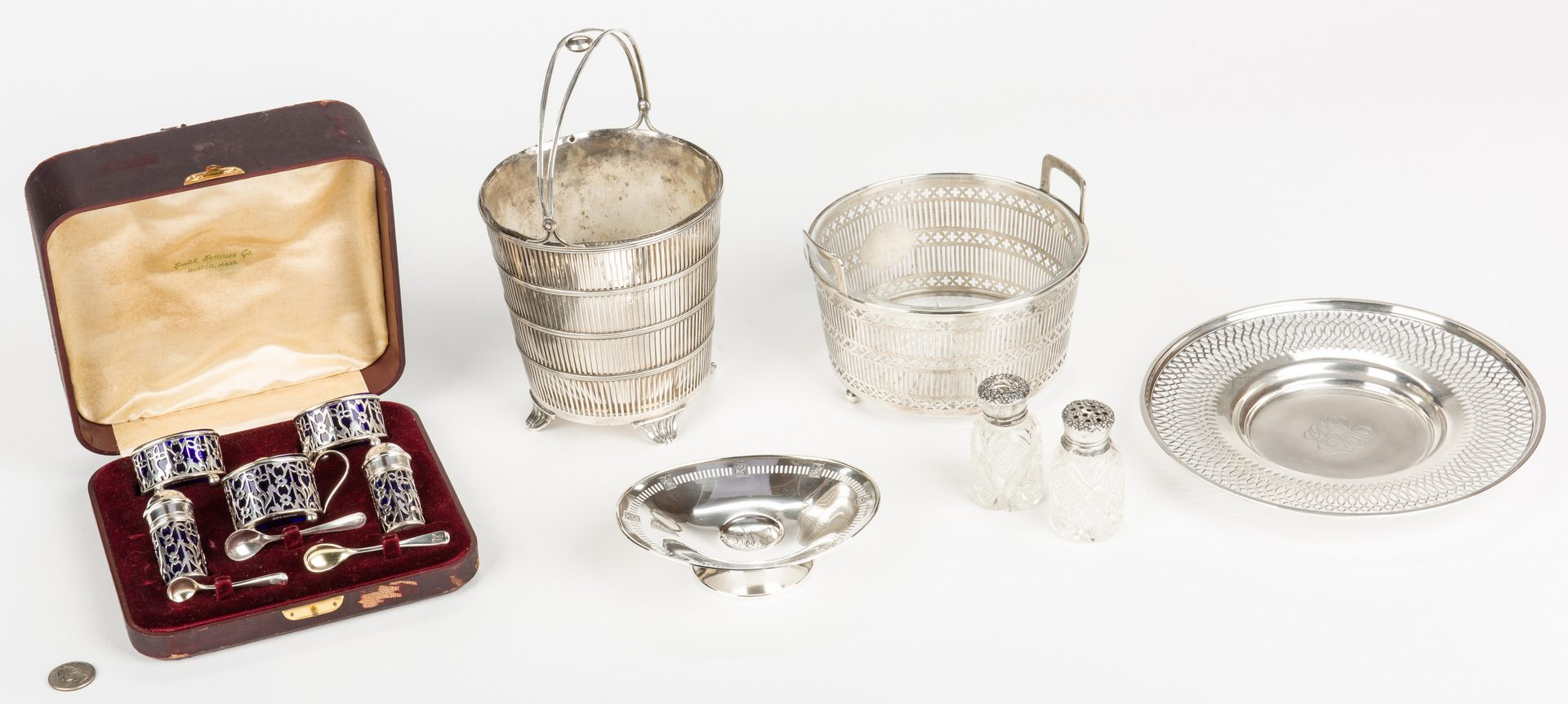 Lot 878: Assembled Group Sterling Hollowware, 7 items